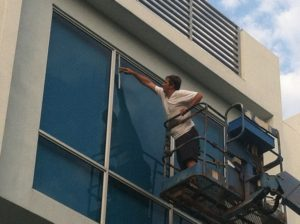 Commercial window cleaning by A Pane-less Solution Window Cleaning