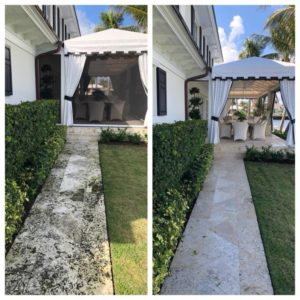 Concrete cleaning by A Pane-less Solution Window Cleaning in Delray Beach, Palm Beach, Boynton Beach
