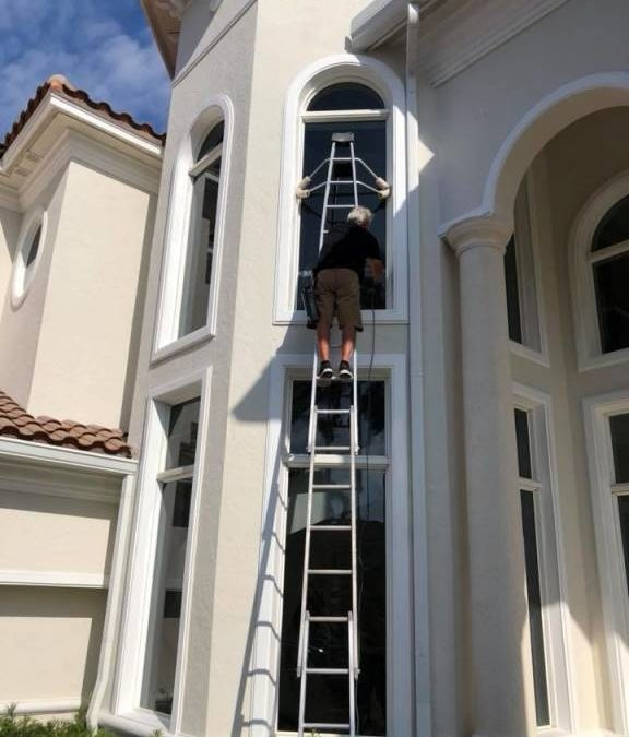 Window cleaning by A Pane-less Solution Window Cleaning in Delray Beach, Palm Beach, Boynton Beach and Boca Raton