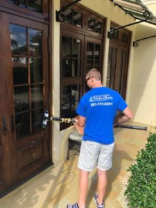 Window cleaning by A Pane-less Solution Window Cleaning in Delray Beach, Palm Beach, Boynton Beach and Boca Raton, FL.